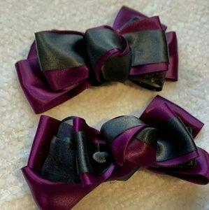 Plum & Black Hair clip